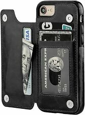 New iPhone SE 2 (2nd generation) 2020 Case Magnetic Wallet Kickstand for Apple