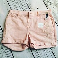 Old Navy Pink Jean Shorts Girls Size 16
