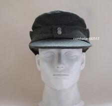 WW2 German Wool WH Elite EM M43 Panzer Field Cap Hat Green 57 58 59 60cm