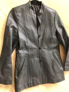 Dormeuil England Vintage Black Genuine Leather Jacket S 8 10