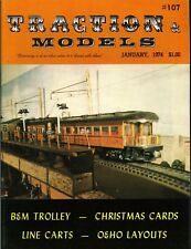 Traction & Models Magazine January 1974 #107 B&M Trolley - Christmas Cards