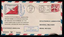 """1961 US rocket mail Dynathermic Associates MKII """"DAMAGED"""" cachet -  EZ48C2b"""