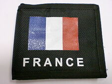 France Paris Fabric Black Men Wallet With Plenty Compartments Gift Camping Money
