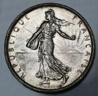 1963 France 5 Francs KM# 926 Silver Coin gEF/AU - ASW: 0.3222oz