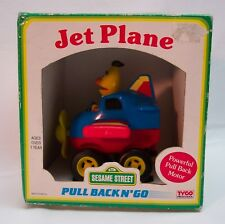 VINTAGE Sesame Street BERT PULL BACK N' GO JET PLANE TOY TYCO PRESCHOOL 1993 NEW
