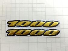New GSXR1000 Raised 3D Chrome Suzuki GSXR1000 Gold Decal Emblem Sticker Bling