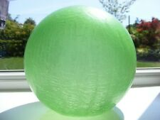 Vintage Green Globe  Crackle Glass Light Shade