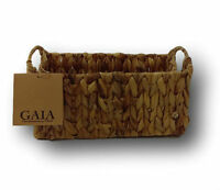 GAIA Water Hyacinth Woven Storage Baskets With Handles Choose Your Size New