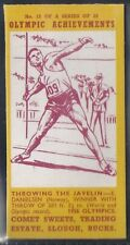 COMET SWEETS-OLYMPIC ACHIEVEMENTS PACKAGE ISSUE-#13- THROWING JAVELIN DANIELSEN