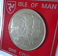 2008 Isle of Man Principe Carlo sessantesimo compleanno (William e HARRY) CROWN MEDAGLIA BU