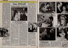 Coupure de presse Clipping 1992 Orane Demazis  (2 pages)