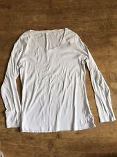 Two Ladies Long Sleeved Tops Size 18 White And Grey