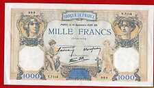 (Ref: T.711)  1000 FRANCS ( CÉRÈS ET MERCURE ) 14/09/1939 (SUP+) DATE RARE