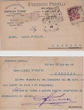# MILANO: FEDERICO PERELLI -stagionatura esportazione formaggi- parmiggiano 1904