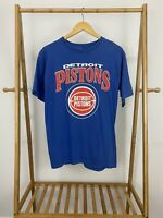 VTG Artex 80s Detriot Pistons Big Graphic Single Stitch T-Shirt Size L USA