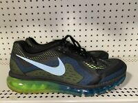 Nike Air Max 2014 Mens Athletic Running Training Shoes Size 11 Black Blue Green