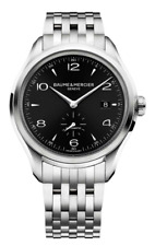 BAUME & MERCIER Clifton M0A10100 S/Steel Black Face Automatic Watch in Warranty