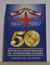 UNUSED COMMEMORATIVE POSTCARD OF 50TH ANNIVERSARY SUPERSONIC FLIGHT
