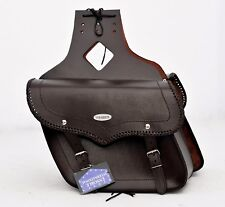 MOTORBIKE SADDLE BAGS BRAND NEW, 100% LEATHER BROWN  PL2653
