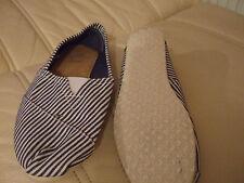 Zone blue & white stripe cotton espadrilles size 5