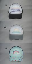 New Roxy Girls' Mesh Base Trucker Cap Curved Bill Adjustable Hat 50cm - 55cm