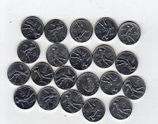 repubblica moneta 50 lire assortite stock 21 pezzi - 9 euro - diametro 16,55 m