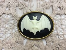 Cameo Gothic Black Bat Steampunk Resin Sewing Button Pendant CAM2