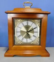 STRAUSBOURG MANOR WESTMINSTER CHIME WOOD SHELF, MANTLE CLOCK