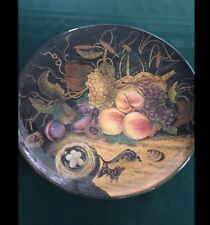 "Large 16"" Collectable Decorative Charger/Plate- Hand Painted In Italy- Beauty!"
