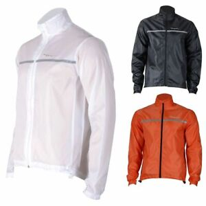 Unisex Cycling jacket High visibility Water resistant Running Top Collapsible