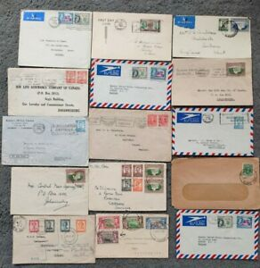 15 Vintage Covers Southern Rhodesia to various locations