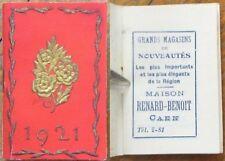 Art Deco French 1921 Pocket Calendar - Advertising Caen, France Novelty Store- 3