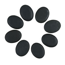 8 Pcs Hot Massage Stone Set Heater Natural Basalt Warmer Rock Kit 1.18 x 1.57 in