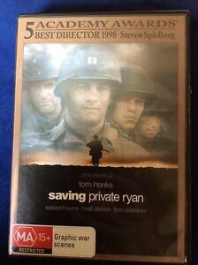 Saving Private Ryan - Region 4 DVD - Tom Hanks - Great Condition - FREE POST