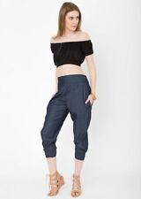 Pantaloni da donna harem blu