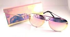 NEW HOT Fashion Rose Pink Aviator Sunglasses with Mirror Lens and Triangle Case