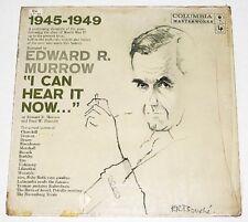 US Pressing EDWARD R. MURROW I Can Hear It Now LP Record