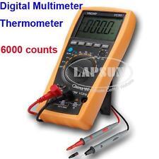 Auto Digital Multimeter DMM AC Amp Thermometer Voltmeter PNP NPN Tester VC99