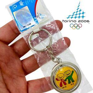 2006 Torino Winter Olympics Official Mascot Neve & Gliz Vintage Olympic Keychain
