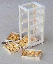 1:12 Scale Full Wooden Bakers Tray Rack Tumdee Dolls House Miniature Accessory A