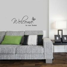 """Text Pattern Wall Sticker Room Decal """"welcome to Our Home"""" Letters Butterfly"""
