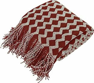 NTBAY Acrylic Knitted Throw Blanket, Lightweight and Soft Cozy Decorative Woven