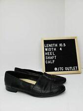 Men's Stacy Adams Genuine Snake Black Loafers Size 8.5