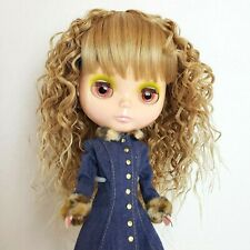 Blythe Doll's Wig Blonde Long Wavy Curly Hair Wig