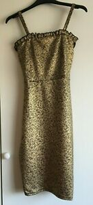 I Saw It First Look of the Day Metalic Gold Mini Dress Size 8 New with Tag