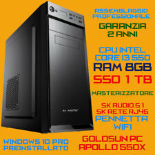 COMPUTER ASSEMBLATO PC FISSO DESKTOP INTEL Core i3-550 RAM 8GB SSD 1TB DVD-RW