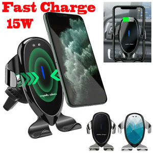 15W Qi Car Wireless Fast Charger Cell Phone Charging Holder For iPhone Samsung
