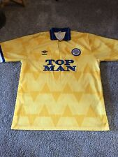 1990-1991 LEEDS UNITED UMBRO AWAY FOOTBALL SHIRT (SIZE L - See Details)