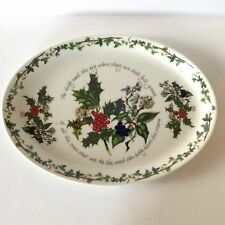 """Portmeirion The Holly And The Ivy 13"""" Oval Platter"""