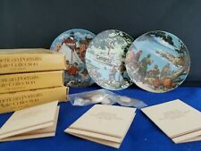 """3 American Portraits Plate Collection Avon 4""""d The South ,The East & The West"""